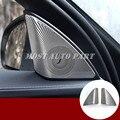 Матовая Автомобильная дверь аудио динамик крышка отделка 2 шт для Mercedes Benz C Class W205 S205 2014-2020