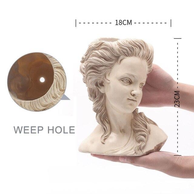 цветочный горшок для суккулентов элегантная греческая богиня фотография