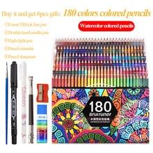 Brutfuner 48/72/120/150/180 cores aquarela profissional/aquarelle lápis colorido desenho esboço da arte lápis de cor