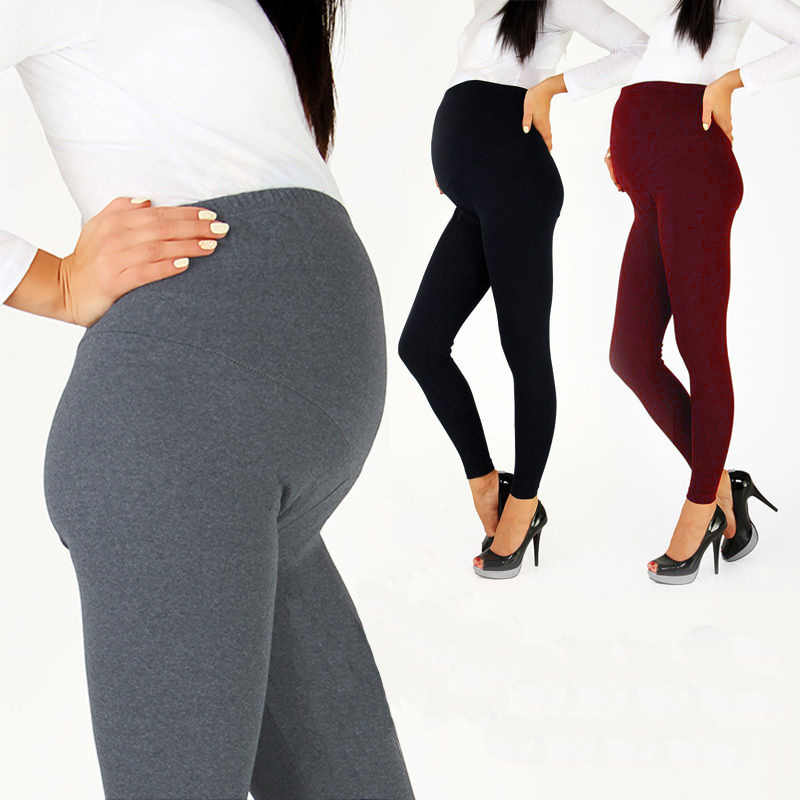 Hot Sale Adjustable Big Size Leggings New Maternity Pant Leggings Pregnant Women Thin Soft Cotton Pants High Waist Clothes