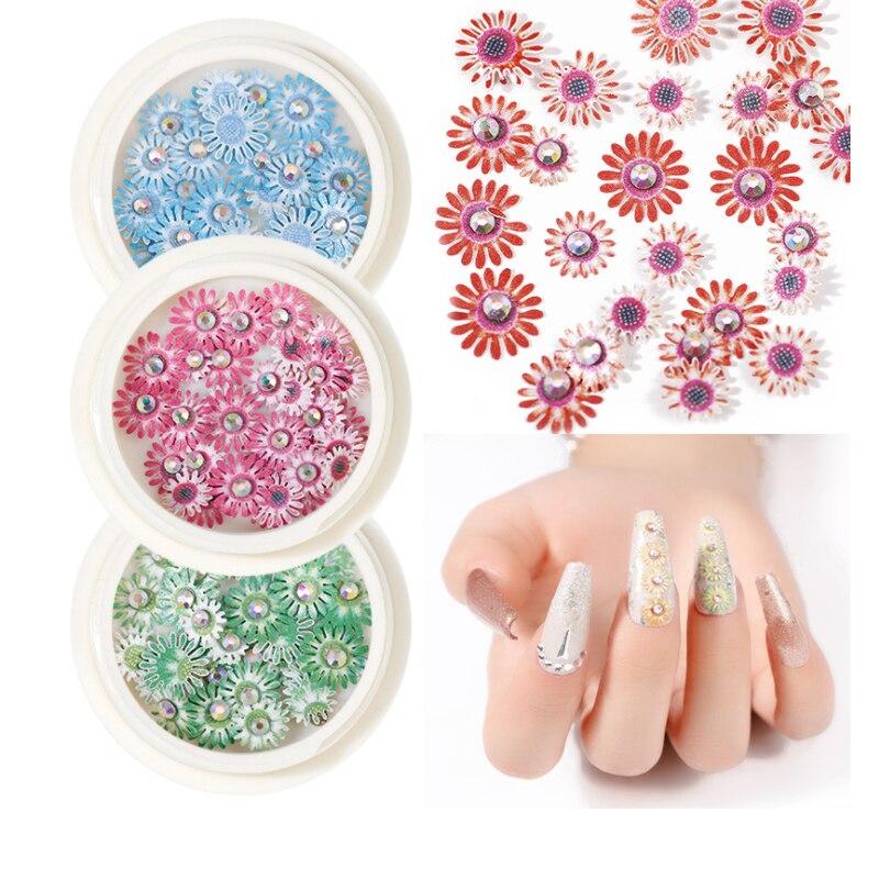 Купить 2020 новый 3d цвет трехмерная ногтей diamond дейзи цветок блестки