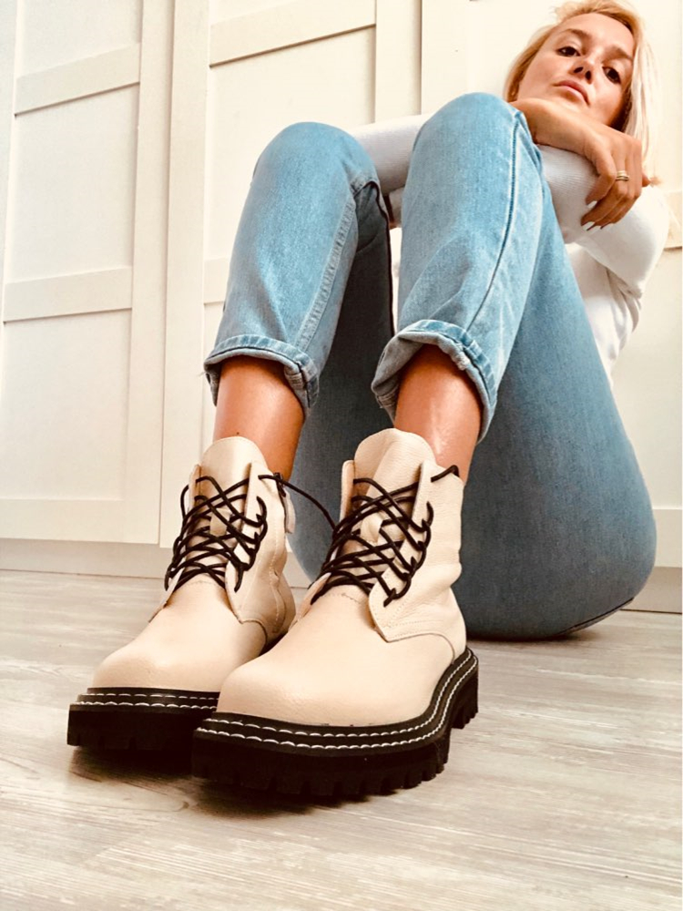 AIYUQI Martin-Boots Women Shoes Female Autumn Genuine-Leather British Wind with Thick