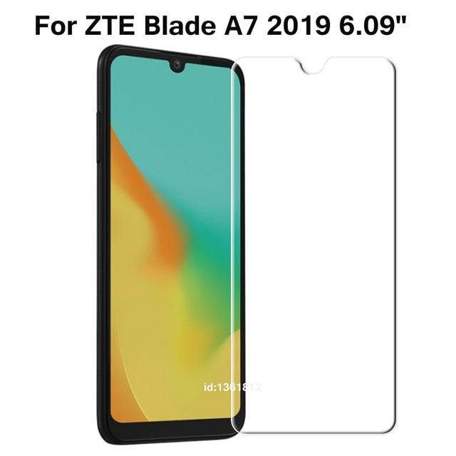 "ZTE להב A7 2019 מזג זכוכית 9H באיכות גבוהה מגן סרט מסך מגן טלפון כיסוי זכוכית עבור ZTE להב של 7 2019 6.09"""