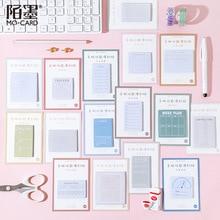 30 страниц/упаковка, Kawaii планировщик, история настроения, липкий блокнот для заметок, хлопья, наклейки, школьные принадлежности, студенческие канцелярские принадлежности