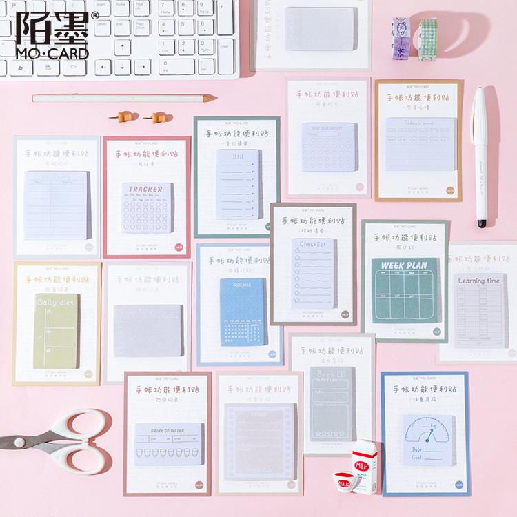 30 Page/pack Kawaii Planner Mood Story Sticky Notes Memo Pad Flake Sticker Offce School Supplies Student Stationery