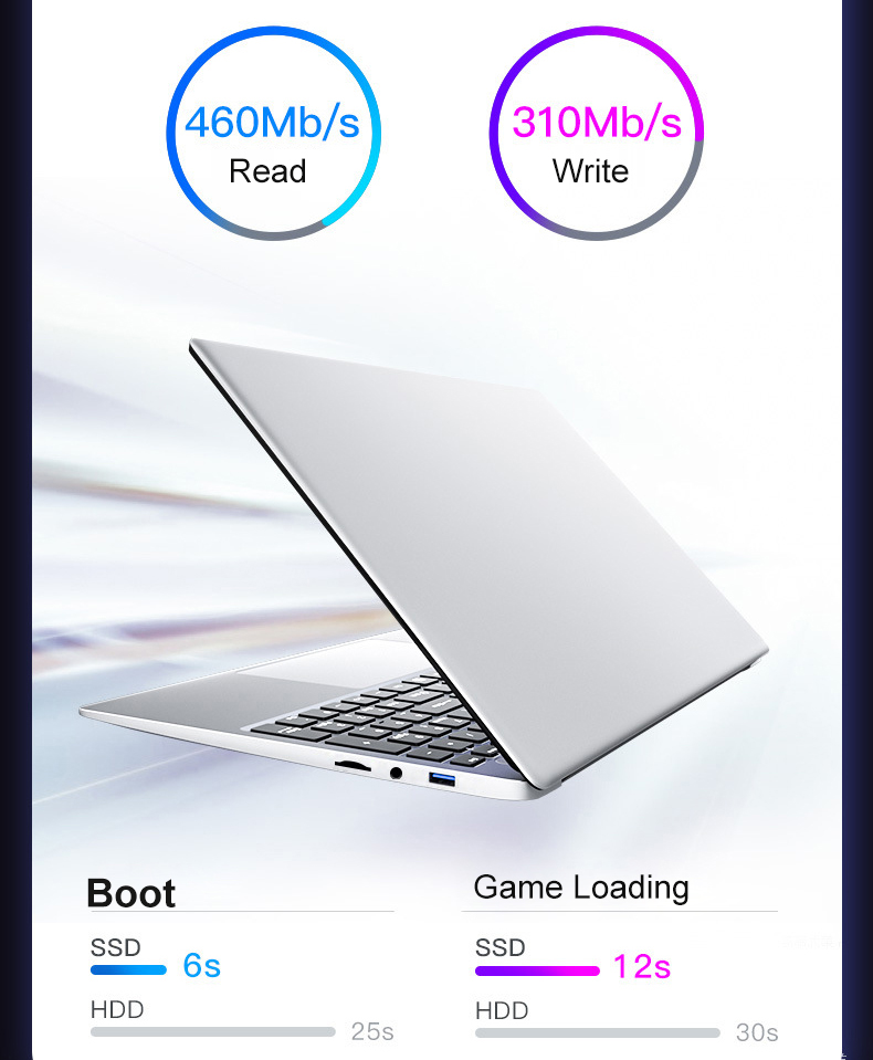 15.6 Inch Core i7 / i5 Windows 10 8GB RAM 128G/ 256G/512G/1TB SSD Laptop with Backlit Keyboard Metal laptop Notebook Ultrabook