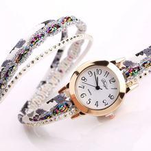 Foloy relógio feminino shredded moda quartzo colorido flor relógio de pulso pulseira relógios femininos