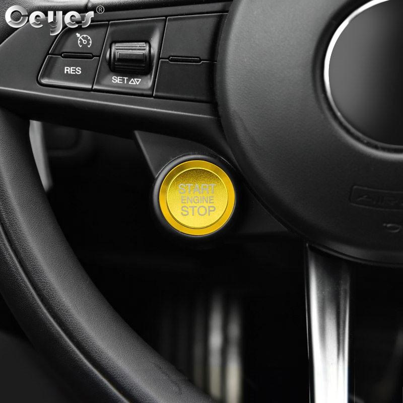 Car Start Engine Button Key Ring for ALFA ROMEO (2)