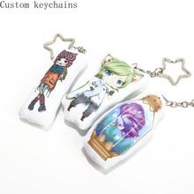 10cm/pcs Custom Pillow Charm Printing Mini Cute Star Keychain