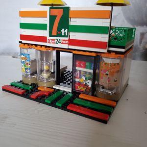 Image 1 - SEMBO Blocks Street Mini Shop CAKE STORE Building Bricks for Children Toy Super Market Kids Doll brinquedos Girls Boy Gifts