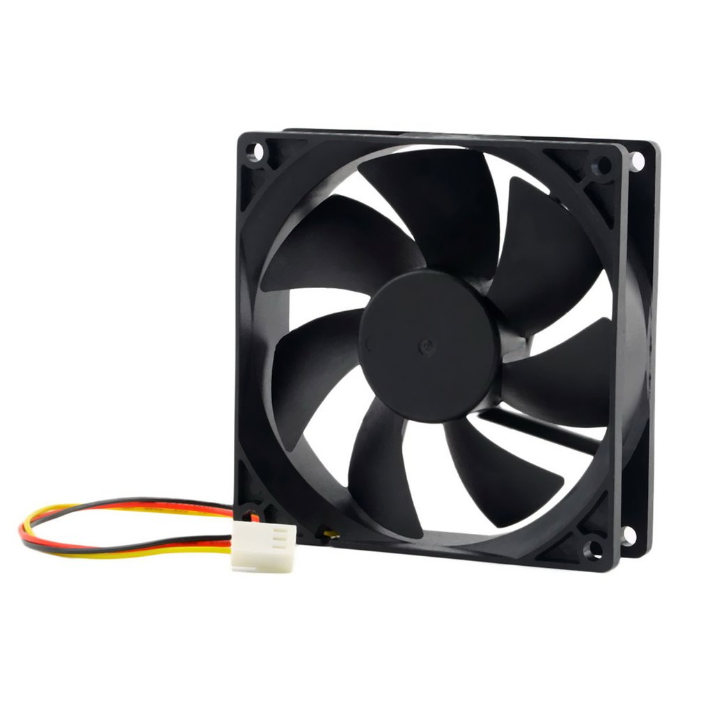 1pc 12V 3-Pin 9cm 90 X 25mm 90mm CPU Heat Sinks Cooler Fan DC Cooling Fan 65 CFM High Quality Fast Free