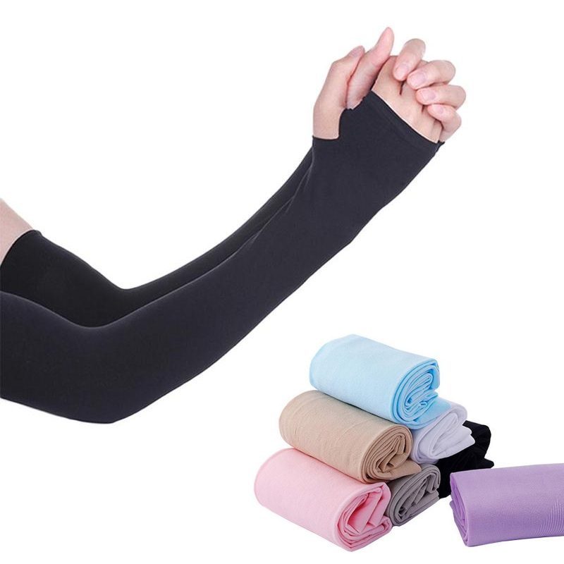 New UV Sunscreen Bicycle Cycling Arm Warmers Elastic Sports Safety Elbow Pad Basketball Long Arm Sleeve Elbow Support Protector