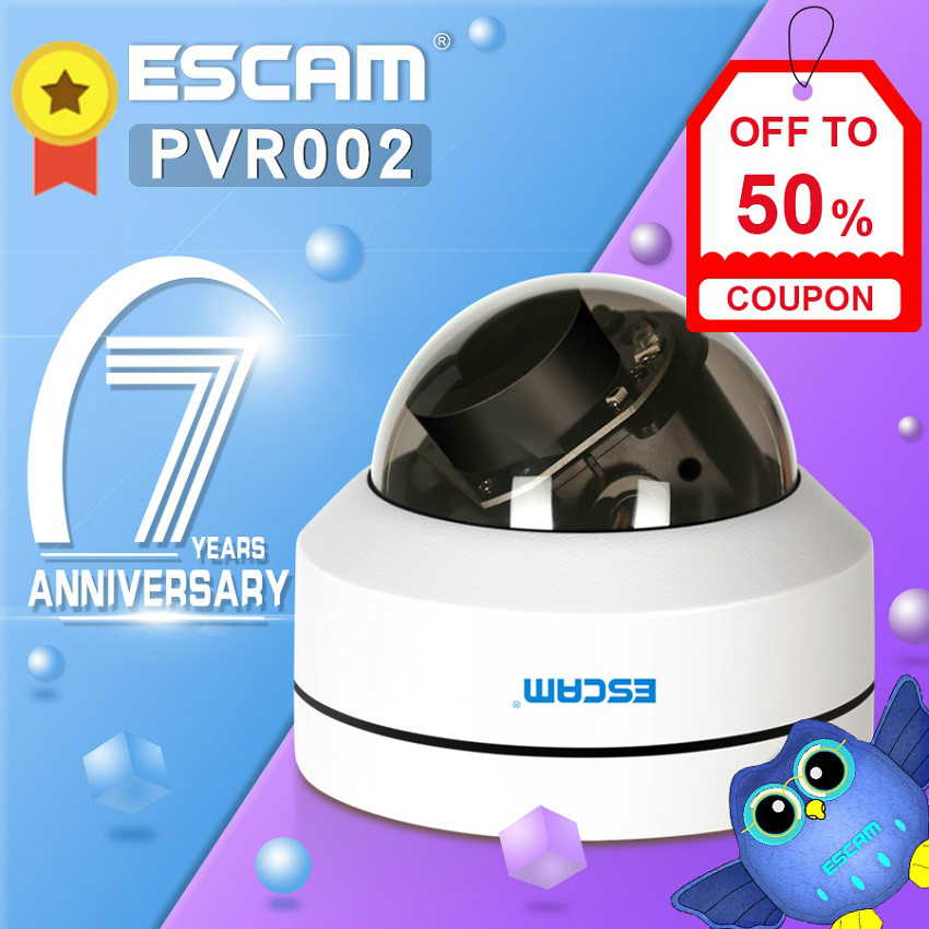 Newest ESCAM PVR002 2MP HD 1080P PTZ 4X Zoom 2 8 12mm Lens IP66 Waterproof POE