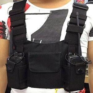 Image 5 - Radio poche Radio poitrine harnais poitrine avant Pack pochette étui gilet plate forme étui de transport pour 2 voies Radio talkie walkie pour Baofeng U