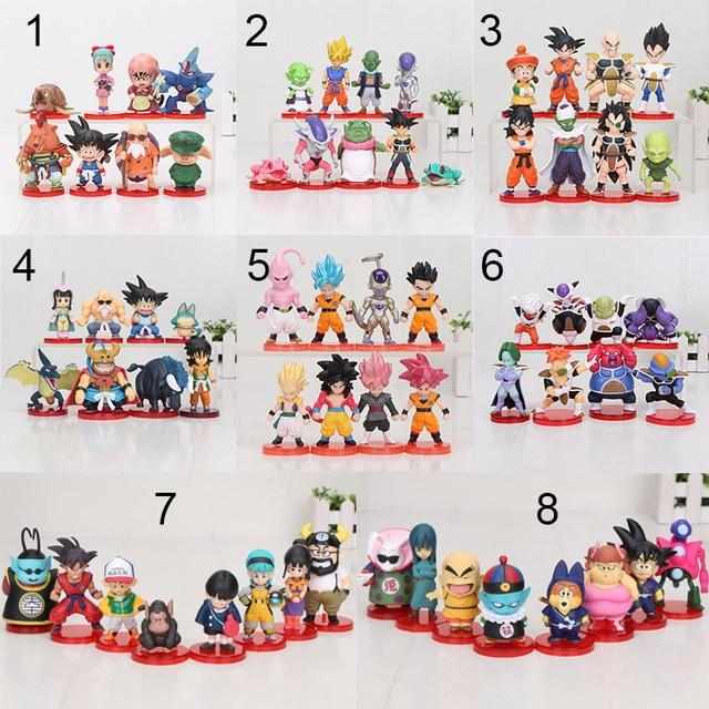 8 Stks/set 3 10Cm Dragon Ball Z Wcf Zoon Goku Chichi Dwc Gohan Piccolo Vegeta Nappa Raditz Freeza pvc Action Figure Model Speelgoed