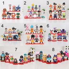 8 sztuk/zestaw 3 10cm Dragon Ball Z WCF syn Goku chichi DWC Gohan Piccolo Vegeta Nappa Raditz Freeza pcv Model postaci zabawki