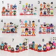 8 teile/satz 3 10cm Dragon Ball Z WCF Sohn Goku chichi DWC Gohan Piccolo Vegeta Nappa Raditz Freeza PVC Action Figure Modell Spielzeug