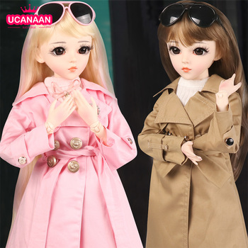 60CM BJD Doll Fashion Girl SD Dolls 18 Ball Jointed Doll With Full Outfits Hat Wig Clothes Shoes Makeup Best Gifts For Girls 1 3 bjd girl doll high quality handmade dress with outfit shoes wig hat makeup 60cm bjd sd dolls silicone reborn bjd dolls toys