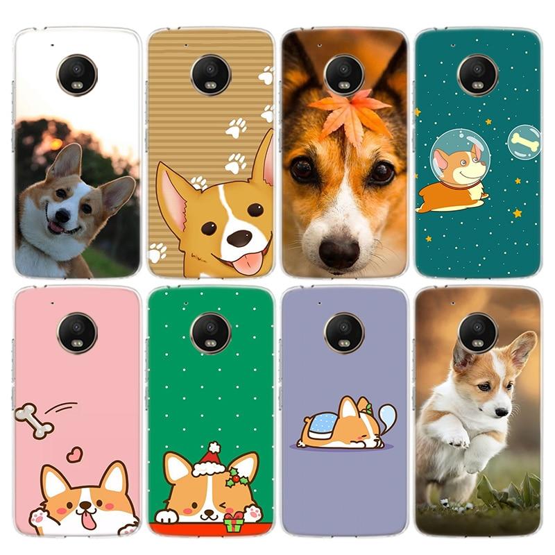 Corgi Dog Phone Case For Motorola Moto G8 G7 G6 G5 G5S G4 E6 E5 E4 Plus Power Play EU One Action Macro Vision Cover