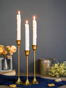 Simple moments 3 PC/set Retro Bronze Candle Holders Wedding Party Vintage Metal Candlestick Home Decor Christmas Candle Holders