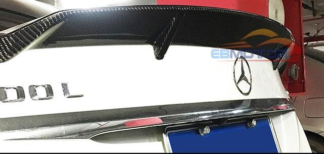 Real Carbon Fiber Tail Trunk Lid Spoiler for Mercedes Benz W205 Sedan 4D 15-16 M123 2