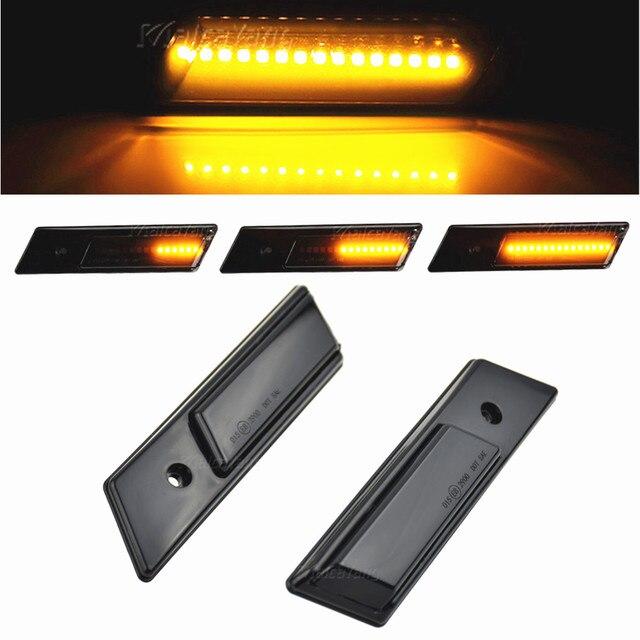 דינמי איתות LED צד מרקר מראה אור מהבהב חיווי עבור BMW 3 5 7 סדרת E32 E34 E36 1990 1996