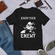 Conheça o seu inimigo manga curta unissex t camisa
