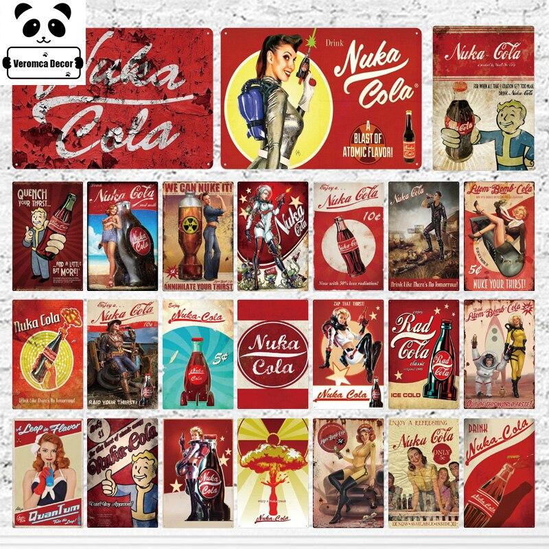 NUKA COLA Metal Sign Retro Vintage Bar Pub Garage Poster Wall Shed