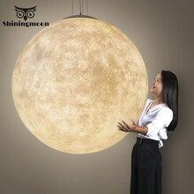 Современная Подвесная лампа с 3D принтом Луны, PLA Подвесная лампа для детской комнаты, освещение для спальни, Подвесная лампа для гостиной, светильник