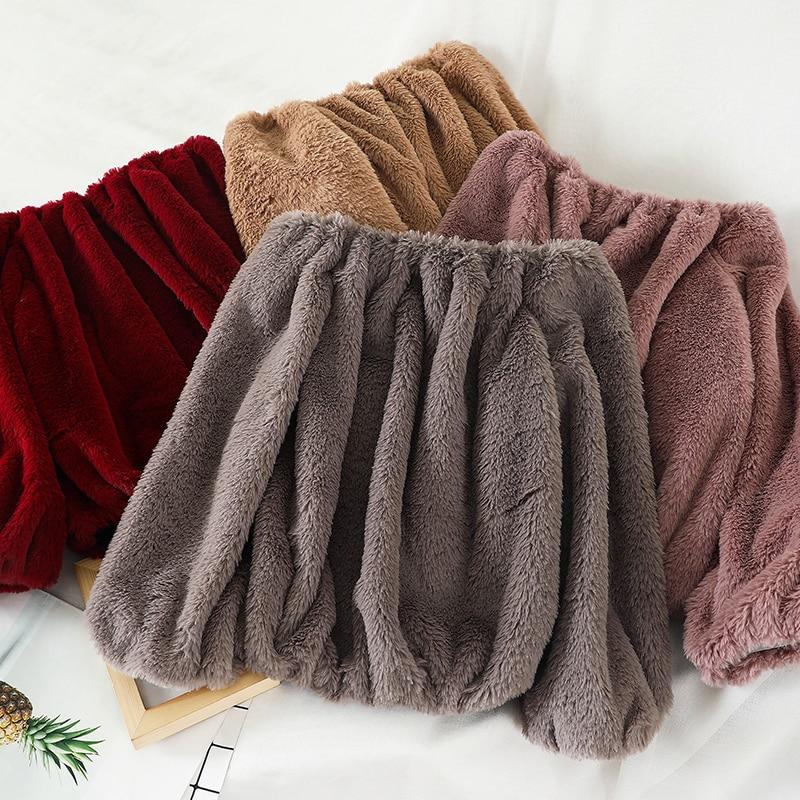 Heliar Slash Shoulder Velvet Warm Sweater Outerwear Tharmel Sweater Women Casual Solid Knitting Pullovers For Women Sweater