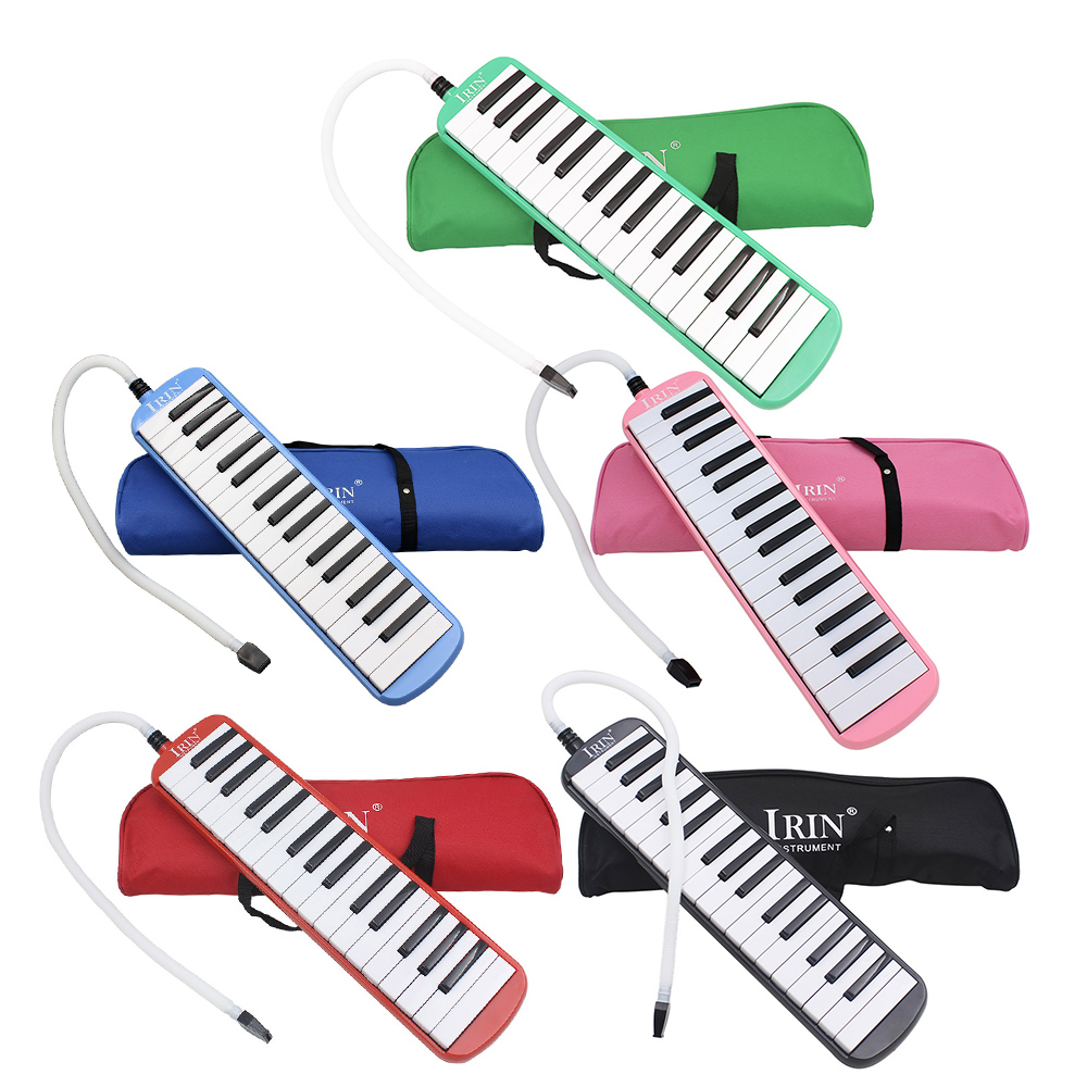 Durable <font><b>32</b></font> Piano <font><b>Keys</b></font> <font><b>Melodica</b></font> with Carrying Bag Musical Instrument for Music Lovers Beginners Gift Exquisite Workmanship image