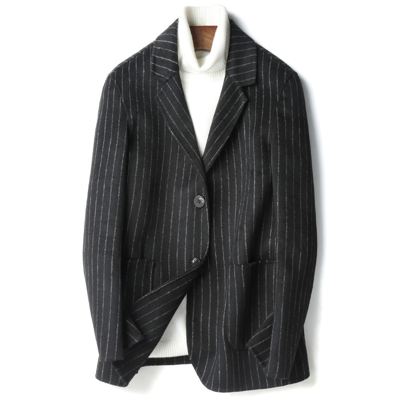 Double Faced Wool Jacket Men Autumn Winter Top Quality Warm Coat Plus Size Blazer De Hombre 2020 D-19-00818-2 MF636