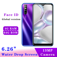 V10 Global Version 4G RAM 64G ROM Quad Core smartphones 5MP+13MP 6 26 #8243 Water Drop screen Android Mobile Phones Face id Unlocked cheap BYLYND Detachable 64GB Face Recognition Up To 48 Hours 3200 Adaptive Fast Charge Smart Phones Bluetooth 5 0 Capacitive Screen