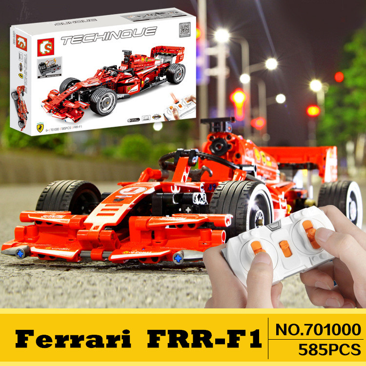 Monster motor <font><b>701000</b></font> Technic Building Blocks F1 Racing Car MOC Compatible Iegoset RC Remote Control Speed Model Bricks Toys Gift image