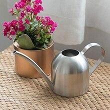 Поливной чайник из нержавеющей стали комнатный бытовой комнатный горшок для полива растений полукруглый длинный рот капельный горшок 1000 мл