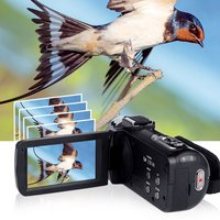 WIFI 3.0 LCD 24.0MP 18x Camcorder Camera Full HD 1080p Video Camera Digital Zoom 270 Rotation Screen Support Microphone Lens