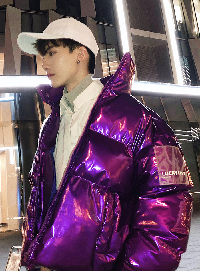 Fashion thickening leather loose short coat