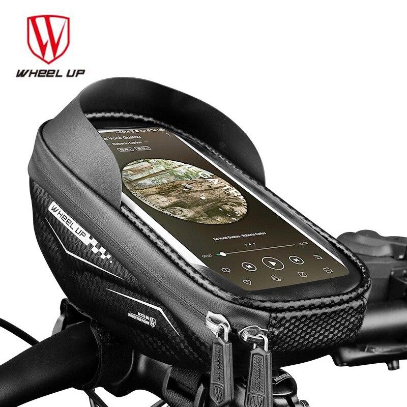 Bolsala para Guidão de Bicicleta Resistente à Chuva Suporte para Celular Bolsa de Guidão para Bicicleta Bolsa do Bolsa Touch Screen Tpu Mtb