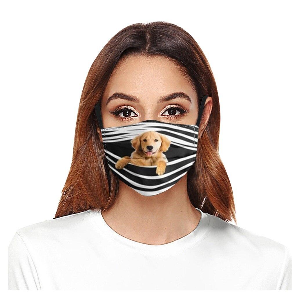 Geral cães imprime respirável lavável máscara rosto filtro de cobertura pode ser colocado reutilizável boca capa tecido máscaras mascarilla d55 2