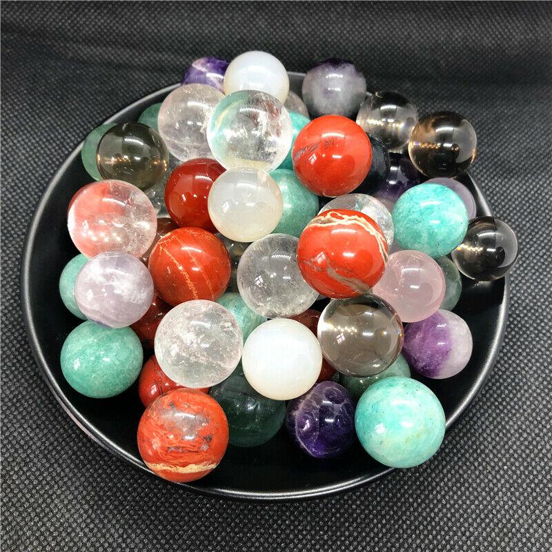 1 шт., шар из натурального лазурита, Хрустальные шарики из кварца, шарообразные шарики из кристаллов, натуральные камни и минералы