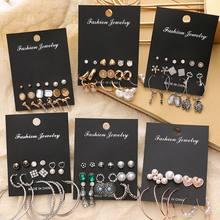 EN – ensemble de boucles d'oreilles EN perles pour femmes, style bohème, géométrique, rond, fleur, pompon, Punk, bijoux