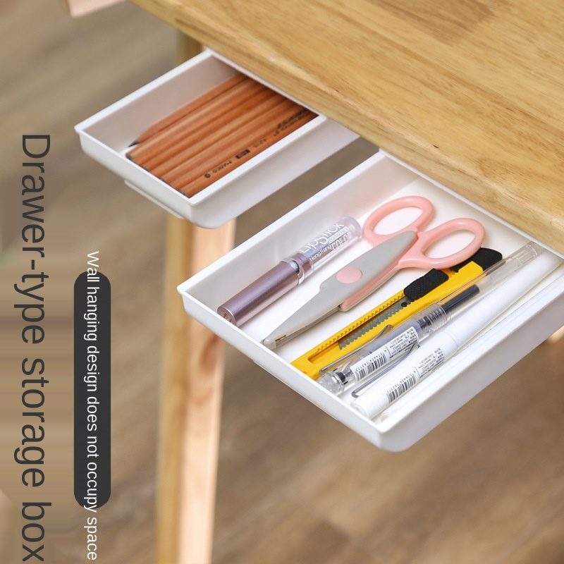 Desk Organizer Storage Box Free Punch Stationery Case Pencil Tray Pen Holder Office Stationery Desk Drawer Office Accessories