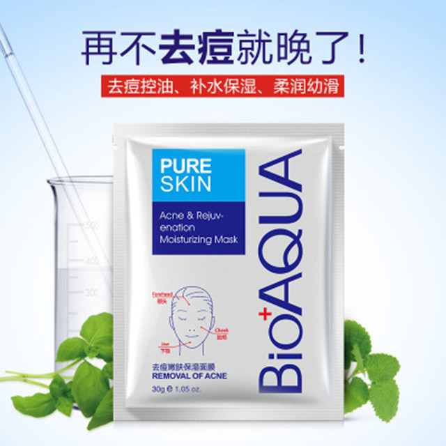 10Pcs bioaqua acne treatment Face Mask Facial Care Acne Treatment Moisturizing Oil Control facial mask korean skin care