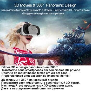 VR Shinecon Helmet 3D Glasses Virtual Reality For Smartphone Smart Phone Headset Goggles Casque Wirth Viar Binoculars Video Game 2