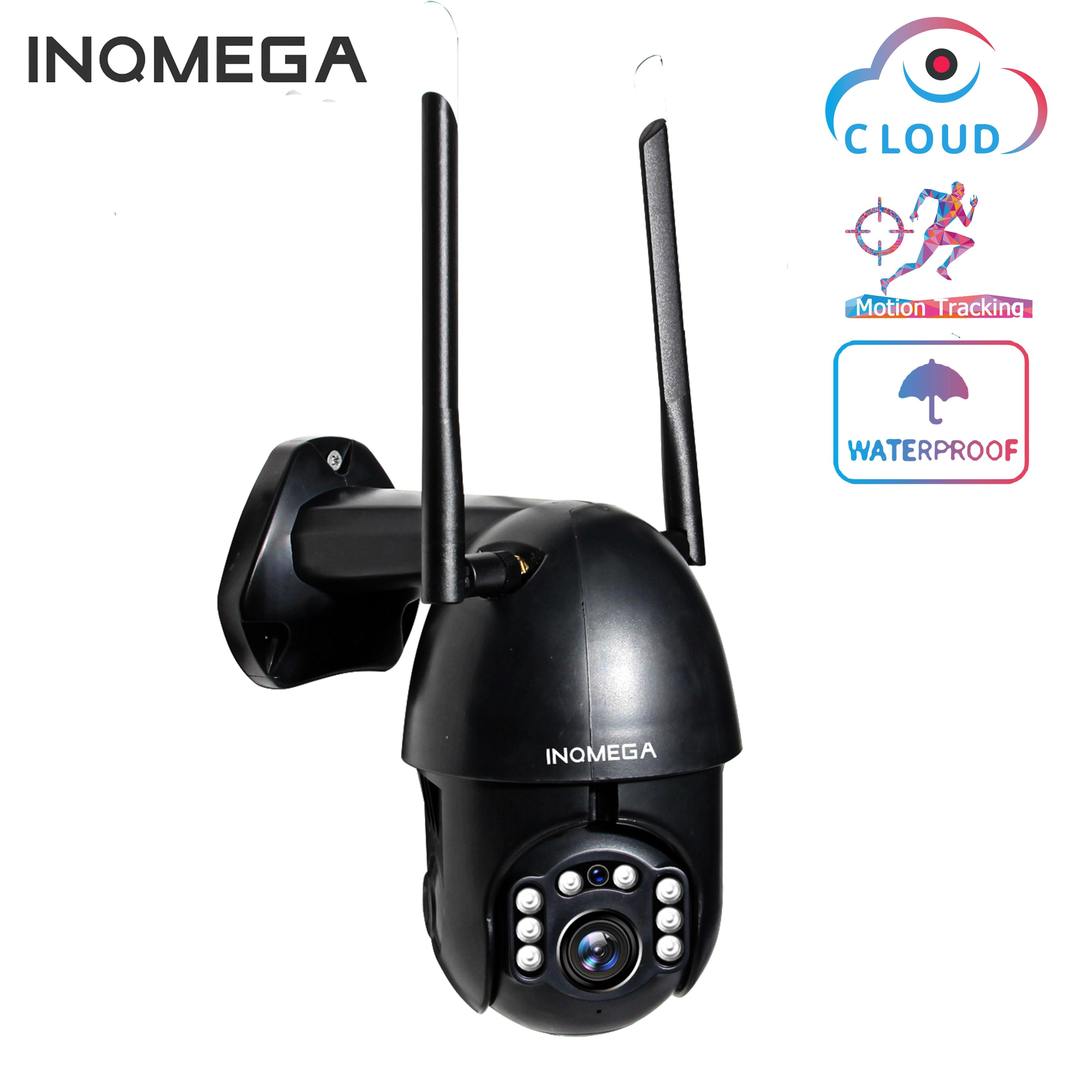 INQMEGA WiFi  1080P IP Camera  Wireless Auto Tracking PTZ Speed Dome Camera Outdoor CCTV Security Surveillance Waterproof Camera