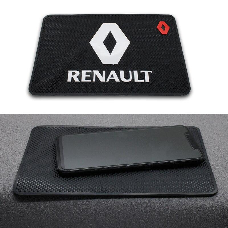 1PC Car Logo Anti Slip Mat Phone Holder Non-Slip Mat Non Slip Pad FOR Renault Duster Megane 2 3 Captur Clio Fluence Kadjar Logan