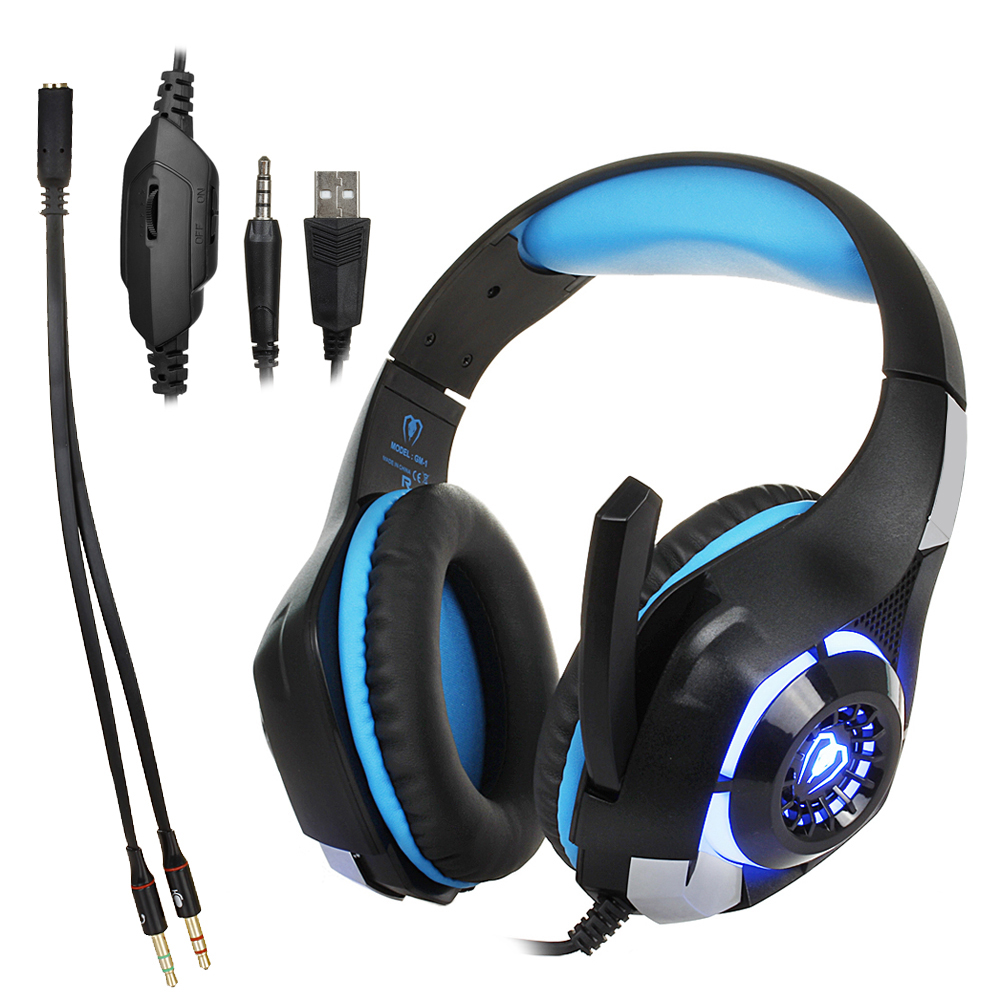 3.5mm Gaming headphone Earphone Gaming Headset Headphone Xbox One Headset with microphone for pc ps4 playstation 4 laptop phone 2