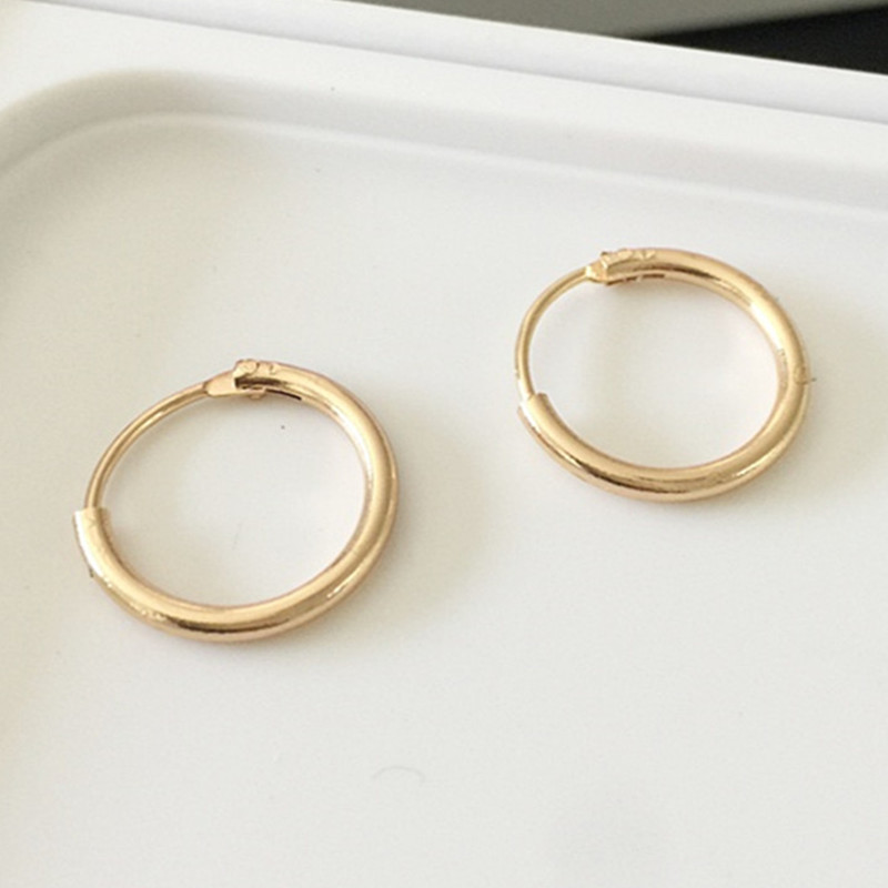 Round Earrings Punk Metal Circle Earrings Street Style Gold Color Silver Color Small Hoop Earring For Women