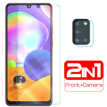 """2-in-1 camera lens glass for samsung a31 a 31 screen protector for samsung galaxy a31 2020 sm-a315f/ds 6.4"""" protective glas film 1"""