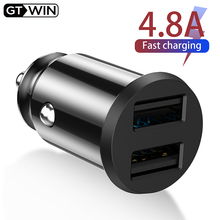 GTWIN 4.8A Car Charger For iPhone Xiaomi Samsung Huawei Mobile Phone Adapter Smartphone